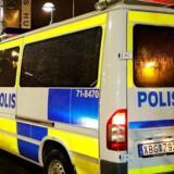 Ifølge Aftonbladet kørte to biler fra stedet, efter at der var blevet affyret skud. Arkivfoto. TT News Agency/Christine Olsson/via REUTERS