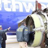 Føderale efterforskere oplyser, at det var en revne på indersiden af CFM56-motoren, der førte til den fatale ulykke. Scanpix/Handout