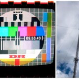 Mindre unge TV-seere vil mindes, hvordan Hove-senderen ofte var skyld i forstyrrelser af TV-signalet. Sådan er det ikke længere, selv om den 300 meter høje mast håndterer langt mere TV - og radio - end før. Foto: (t.v.) Jan Jørgensen, (t.h.) Asger Ladefoged