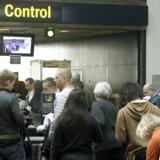 Sikkerhedskontrol i Københavns Lufthavn.