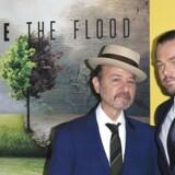 Fisher Stevens og Leonardo DiCaprio før præmieren til den nye dokumentar »Before The Flood«