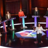Labour-leder Jeremy Corbyn sprang i sidste øjeblik ind i en TV-duel for partiledere, hvor den ene efter den anden rettede hårde angreb mod premierminister Theresa May for ikke at ville deltage. Foto: Reuters/pool