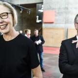 DR's nyhedsdirektør Ulrik Haagerup har i ugens løb været i centrum for beskyldninger om lidt for kreative aflønningsformer i statsradiofonien. Her sammen med generaldirektør Maria Rørbye Rønn.