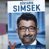Venstres Bünyamin Simsek (V). Valgplakater i Aarhus på valgdagen under Regions- og Kommunalvalget 2017, tirsdag den 21. november 2017.
