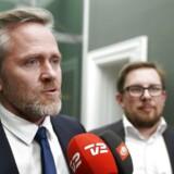 Udenrigsminister Anders Samuelsen (LA) efter forhandlingerne om finansloven med Dansk Folkeparti i Statsministeriet.