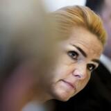 Udlændinge- og integrationsminister Inger Støjberg (V) er en del af det ministerhold, der i dag præsenterer regeringens nye ghettoudspil.