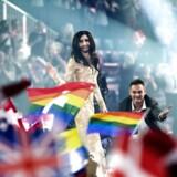 Arkivfoto. Vinder af Eurovision 2014, Conchita Wurst.