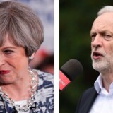 Theresa May og Jeremy Corbyn. Foto: REUTERS/Eddie Keogh AFP PHOTO / NIKLAS HALLE'N