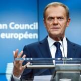 Fredag aften affejede EU-præsident Donald Tusk den britiske chefforhandleres syn på situationen.