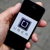 Når folk, som Uber har identificeret som kontrollører, har forsøgt at bestille en vogn gennem kørselstjenestens app, er den automatisk blevet aflyst, og de har fået vist falske oplysninger om Uber-biler. Arkivfoto: Toby Melville, Reuters/Scanpix