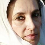 Et af de sidste billeder af Benazir Bhutto i live ved vælgermødet i Rawalpindi.