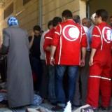 Frivillige fra Røde Halvmåne er skydeskive i konflikten i Syrien.
