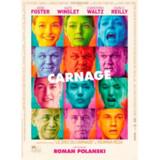 Polanskis »Carnage« udspiller sig i realtid i et hus, hvor to forældrepar spillet af Jodie Foster, Kate Winslet, Cristoph Waltz og John C. Reilly skal løse en konflikt mellem deres sønner. Og det kommer ikke til at gå stille af.