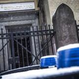 »Det er uacceptabelt, at en uskyldig befolkningsgruppe, der ingen aktier har i, hvad der foregår i Mellemøsten, skal bøde for Trumps beslutning.« Billedet viser Synagogen på Krystalgade i indre København.
