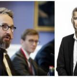 Transportminister Ole Birk Olesen og kommentator Thomas Larsen.