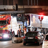 Tow trucks pull away the beer truck that crashed into the department store Ahlens after plowing down the Drottninggatan Street in central Stockholm, Sweden, April 8, 2017. Maja Suslin/TT News Agency/via Reuters ? ?ATTENTION EDITORS - THIS IMAGE WAS PROVIDED BY A THIRD PARTY. FOR EDITORIAL USE ONLY. NOT FOR SALE FOR MARKETING OR ADVERTISING CAMPAIGNS. THIS PICTURE IS DISTRIBUTED EXACTLY AS RECEIVED BY REUTERS, AS A SERVICE TO CLIENTS. SWEDEN OUT.NO COMMERCIAL OR EDITORIAL SALES IN SWEDEN.NO COMMERCIAL SALES.