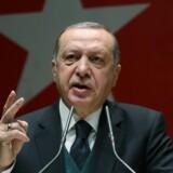 - Vi er meget kede af Frankrigs forkerte syn på denne sag (Tyrkiets rolle i Syrien, red.), siger Recep Tayyip Erdogan under en tale i Ankara. Reuters/Handout