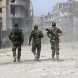 Indbyggerne i det belejrede Ghouta har været udsat for voldsomme bombardementer den seneste måned. Arkivfoto. / AFP PHOTO / STRINGER