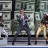 George Clooney giver den gas i Jodie Fosters »Money Monster«. Resultatet er ikke altid lige elegant. Foto: PR