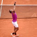 Rafael Nadal efter at have vundet kampen over Albert Ramos-Vinolas.