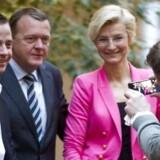 Venstres Thomas Danielsen blev valgt i Folketinget ved valget i 2011. Her ses han med V-formand Lars Løkke Rasmussen og medlem af Europaparlamentet Ulla Tørnæs.