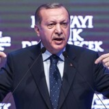 ARKIVFOTO: Den tyrkiske præsident Recep Tayyip Erdogan AFP PHOTO / OZAN KOSE