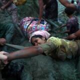 Ifølge en undersøgelse fra Læger uden Grænser døde 9400 Rohingya-muslimer i løbet af den første måned efter volden brød ud. Flere af dem er børn under fem. Reuters/Hannah Mckay (arkiv)