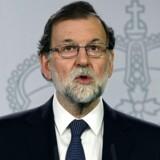Arkivfoto. De catalanske ledere gennemførte deres afstemning, selv om de vidste, den var ulovlig, siger Mariano Rajoy.