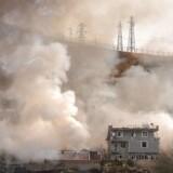 ARKIVFOTO: Tyrkisk offensiv i Syrien dræber 35 civile- - Røg stiger fra politiets hovedkvarter efter en selvmordsbombe har dræbte elleve tyrkiske politifolk og sårede 78 mennesker den 26. august , 2016 Cizre , sydøstlige Tyrkiet , i et angreb skylden på kurdiske militante , sagde statslige medier- - Se RB 28/8 2016 15.28. Parallelt med kampen mod Islamisk Stat prøver Tyrkiet at forhindre, at kurdiske styrker udvider kontrollen over områder på den syriske side af grænsen. STR