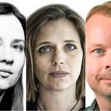 Merete Bøye, Katrine Winkel Holm og Christian Roar Pedersen.