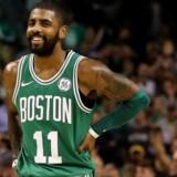 Kyrie Irving bidrog med 16 point, da Boston Celtics slog Golden State Warriors. Scanpix/Maddie Meyer