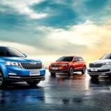 Den kompakte Kamiq (til venstre) er Skodas nye SUV udviklet kun til Kina, hvor den skal være indstigningsmodel