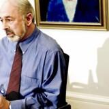Finn Rudaizky, som sidder i Borgerrepræsentationen for Dansk Folkeparti, fotograferet under et pressemødet på Københavns Rådhus. Arkivfoto.