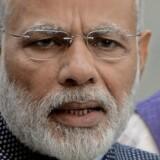 Den indiske premierminister, Narendra Modi, vil korruption og sorte penge til livs. Foto: AFP