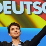 Frauke Petry, en af de to formænd i det succesrige højrefløjsparti Alternative für Deutschland, kan se frem til at ride videre på den bølge af succes, der allerede har båret det indvandrerkritiske tyske parti ind i delstatsparlamenterne i Sachsen-Anhalt, Rheinland-Pfalz og Baden-Württemberg. Arkivfoto: Swen Pfoertner