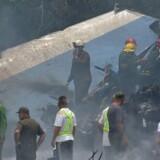 Årsagen til den værste flyulykke i Cuba i næsten 30 år kendes ikke. / AFP PHOTO / Yamil LAGE
