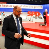 Socialdemokraternes partiformand Martin Schulz (billedet) har tidligere sagt nej tak til regeringssamarbejde med Angela Merkels kristendemokrater. På weekendens partikongres i Berlin drøfter de tyske socialdemokrater, om partiet alligevel skal søge at danne regering med kristendemokraterne.
