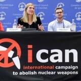 Nobels Fredspris er gået til kampagnen Ican mod atomvåben.