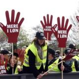 FOA medlemmer til en tidligere strejke. Nu er stregerne kridtet op frem mod endnu en eventuel storkonflikt.