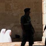 Talsmand for Hamas beskriver Israels lukning af Tempelbjerget for muslimer som hellig krig. Reuters/Natalie Behring/arkiv