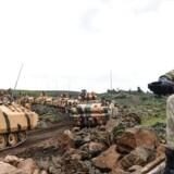 Tyrkiske tropper ved den Syriske grænse.