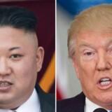 Bølgerne går højt mellem den USA's præsident og Nordkoreas leder i disse dage. Trump truer med totalødelæggelse af Nordkorea, mens Kim Jong-un kalder Trump en »senil olding«. Foto: Saul Loeb, Ed Jones