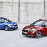 Forhjulstræk blev hos BMW først introduceret med 2-serie Active Tourer (og senere den længere 2 Gran Tourer) i 2014, men vi kan lige så godt vænne os til det, for også den kommende 1-serie vil køre med træk på de forreste hjul. Et facelift af de to MPV-modeller betyder mere renlige motorer og nye gearkasser