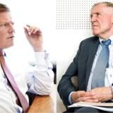 CFO Jesper Brandgaard rokerer rundt og formanden for Novo Nordisks bestyrelse, Göran Ando, siger farvel og tak.