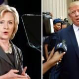 Clinton og Trump. AFP PHOTO / KENA BETANCUR(Right) / DON EMMERT(Left)
