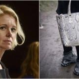 Det er bl.a. disse Salomon-støvler og denne Carlend-taske, som Pia Allerslev viser frem på Instagram. Støvlerne er egenkøbt, tasken er lånt, siger Pia Allerslev.