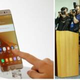 På et pressemøde i Seoul undskyldte chefen for Samsungs mobildivision, Koh Dong-jin, for tilbagekaldelsen af den nye flagskib fra Samsung.