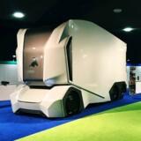 Den svenske ellastbil T-pod, der har plads til 15 paller gods, er snart klar til at transportere varer for supermarkedet Lidl.