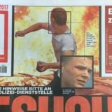 Forsiden af den tyske avis Bild mandag den 10. juli