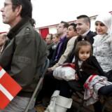 Der bliver flere og flere indvandrere og efterkommere i Danmark, viser Danmarks Statistiks befolkningsprognose. Her møder nye danske statsborgere landets politikere på Statsborgerskabsdag.
